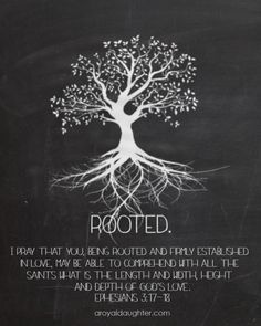 I am so thankful for my precious, Godly parents who instilled this in each and every one of their children & the importance of being Rooted in Christ. Regardless of any difference we had through the years, we will stand alone when we meet our maker & can only answer for our own actions. I cannot imagine trying to give God an excuse for being ugly, disobedient, etc. Dear Lord, please help me to not miss an opportunity to share this.