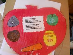 Rosh Hashana- honey place mat. I miss sending my kids to a Jewish Preschool. They always came home with such wonderful crafts.