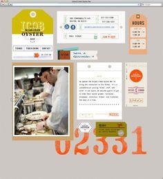 Restaurant website design.