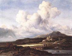 Le Rayon de soleil, huile sur toile de Jacob Isaakszoon Van Ruisdael (Ruysdael) (1628-1682, Netherlands)