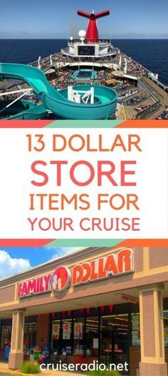 If you're preparing to take a cruise vacation, we have a list of some things you may want to pick up at the dollar store for it.