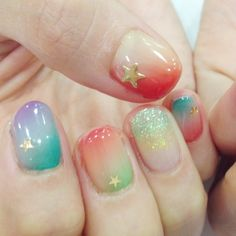 You must check out these spectacular nail designs! Cute Nail Polish, Nail Polish Designs, Cute Nails, Nails Design, Beautiful Nail Designs, Cute Nail Designs, Japanese Nail Art, Sparkle Nails, Girls Nails