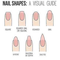 Mas Informacion Different Nail Shapes