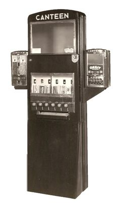 That's right: an authentic 1940s Canteen candy machine! Does anyone remember what kind of candies were sold back then? #TBT