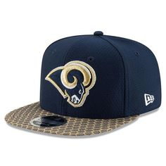 89a0d546107 Los Angeles Rams New Era Navy 2017 Sideline Official 9FIFTY Snapback Cap