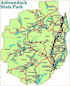 Adirondack State Park Map