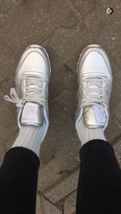 buy popular 24e71 5c3fb silver reebok shoes