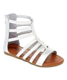 Loving this QQ Girl Silver Piper Gladiator Sandal on #zulily! #zulilyfinds