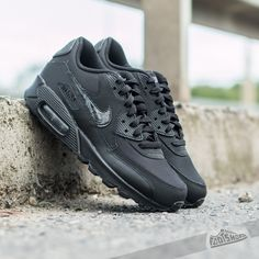 Nike Air Max 90 Mesh GS Black  Cool Grey - Footshop 8b15f21b6c