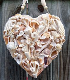 Driftshell Hearts out of shell fragments--fabulous !