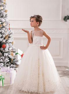 Lovely Flower Girl Dresses, Ball Gown Flower Girl