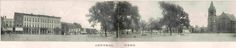 Galesburg, Illinois.  Central Park Square.  no date yet.  R - Central Congregational Church still stands.  Photos in this album.
