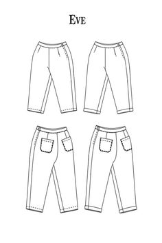 """Schnittmuster:Merchant and Mills """"The Eve Trousers"""" - Elsbeth und Ich Merchant And Mills, Elsbeth Und Ich, Fall Sewing, Trousers, Women's Pants, Couture Sewing, Sewing Blogs, What To Make, Pattern Cutting"""
