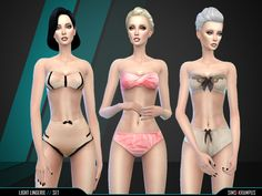 Full body lingerie outfits for women. Found in TSR Category  Sims 4 Sets  893b301d3