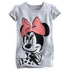 Disney Minnie Mouse Sweater Dress for Girls   Disney StoreMinnie Mouse Sweater Dress for Girls - Like our thoroughly ''mod'' Minnie, she'll stay fabulous as the times keep changing in this retro style heathered knit sweater dress with pop art Minnie print and a bow-full of shimmering red sequins.