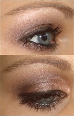 Brown Smoky Eye Tutorial hair-makeup