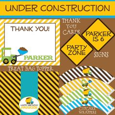 Construction Birthday Big Party Package - Boy DIY Printable
