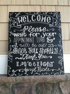 Handwritten 20x24 Welcome Sign on Etsy, $50.00