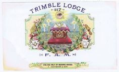 Trimble Lodge Original Inner Cigar Box Label Masonic Bodies | eBay