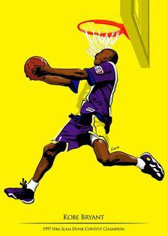 NBA Slam Dunk Heroes Art - Hooped Up......Kobe Bryant