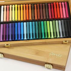Conté Carré Soft Pastels Bamboo Box of 48