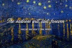 26 Ideas famous art work paintings vincent van gogh for 2019 Aesthetic Painting, Aesthetic Drawing, Quote Aesthetic, Aesthetic Outfit, Aesthetic Dark, Aesthetic Clothes, Vincent Van Gogh, Art Qoutes, Sad Quotes