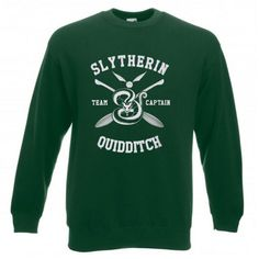 About Slytherin Quidditch Team Captain Sweatshirt This sweatshirt is Made To Order, we print the sweatshirt one by one so we can control the quality. Jordan Harris, Printed Sweatshirts, Direct To Garment Printer, Slytherin, Daily Wear, How To Look Pretty, Shirt Style, Unisex, Mens Tops