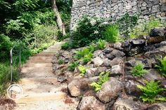 #landcape #architecture #garden #rockery #stairs