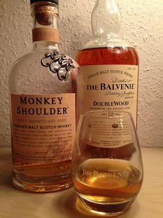 Monkey Shoulder - blend from 3 single malt whiskies The Balvenie - Doublewood - 12 years