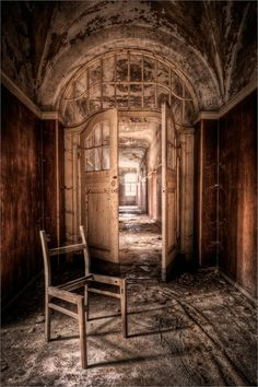 Abandoned asylum in Germany.