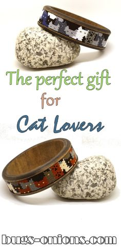 Beaded Wood Bangles for everyone's favorite Cat Lady. Cat Lover Gifts, Cat Gifts, Cat Lovers, Boho Jewelry, Beaded Jewelry, Beaded Bracelets, American Pride, Native American, Beadwork