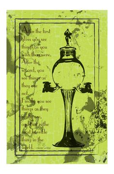The absinthe fountain is an integral tool of the trade for enjoying the Green Fairy. Weve also included a quote from the incomparable Oscar Wilde