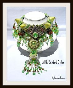 Bead Embroidery Necklace - Lilith Beaded Collar. $2,300.00, via Etsy.