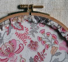 How to neatly finish embroidery hoop art