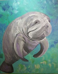 Manfred the Manatee SOLD