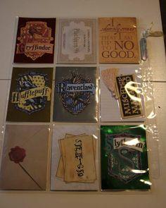 Pocket letter Harry Potter, arrière. Madewithloveblog