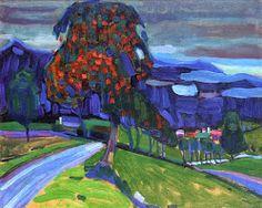Autumn in Murnau Kandinsky (1908)
