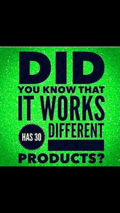 It Works has more than just wraps! Message me for any details on any products you may like or want to know more about!! 2104887555