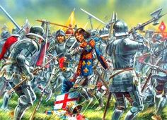 Peter Dennis. The Battle of the Bosworth Field, 22.08.1485. The last fight of Richard III.