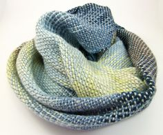 Hand Woven Pooled Scarf | Rigid heddle loom