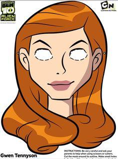 #Free Ben 10 - Gwen - Printable face mask #free #printables