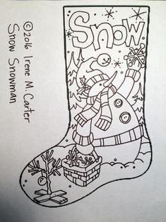 Original Design by Irene M. Carter Stocking on Linen Christmas Drawing, Felt Christmas, Christmas Colors, Christmas Projects, Christmas Christmas, Christmas Embroidery Patterns, Christmas Stocking Pattern, Punch Needle Patterns, Original Design