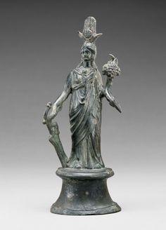 Statuette of Isis-Fortuna; Unknown; Roman Empire; 2nd century; Bronze; 19 cm (7 1/2 in.); 71.AB.180