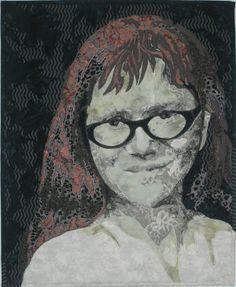 Fabric portrait by Elizabeth Poole