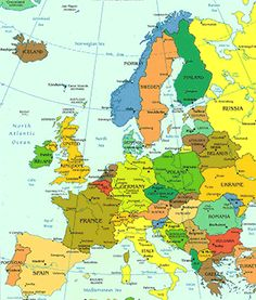 Travel to all countries in europe been to sweden norway denmark world atlas world map atlas of the world including geography facts and flags gumiabroncs Images
