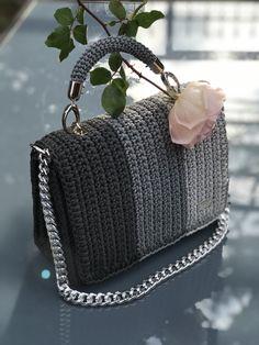 Items similar to Three colors crochet bag on Etsy Crochet Backpack Pattern, Free Crochet Bag, Crochet Clutch, Bag Pattern Free, Crochet Handbags, Crochet Purses, Crochet Case, Handmade Leather Wallet, Handmade Bags