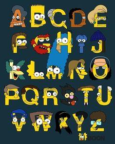 The Simpsons│ Los Simpson - - - - - - The Simpsons, Simpsons Meme, Simpsons Characters, Disney Characters, Los Simsons, Simpson Wallpaper Iphone, Alphabet Print, Baboon, Animation