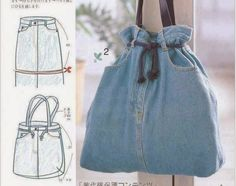 Como fazer uma bolsa reciclando a calça jeans - Artesanato na Prática