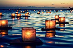 Beautiful floating lanterns.
