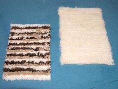 How to: miniature shag rug for dollhouse. Very cool! (Use Google translate.)